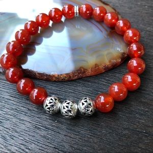Jewelry - 🆕🆕🆕✨RED AGATE BRACELET 8mm✨